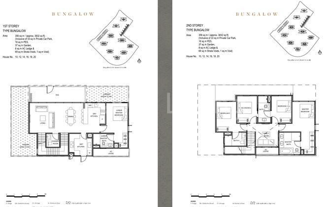 Bungalow Floor Plan - 1st & 2nd Storey