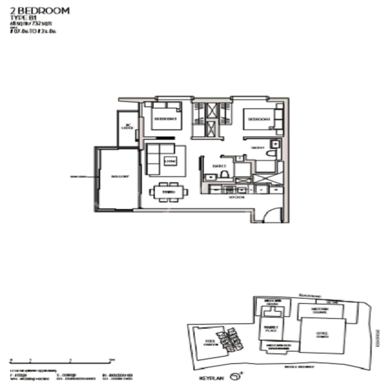 2 bedroom Duplex Dual Key