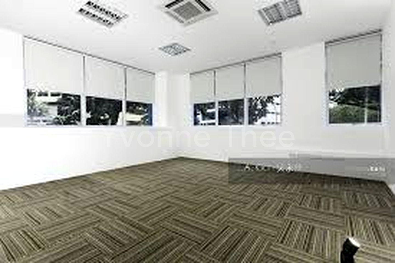 Office has carpet flooring