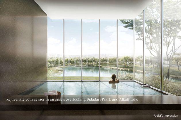 Rejuvenate your senses in an onsen overlooking Bidadari Paark and Alkaff Lake