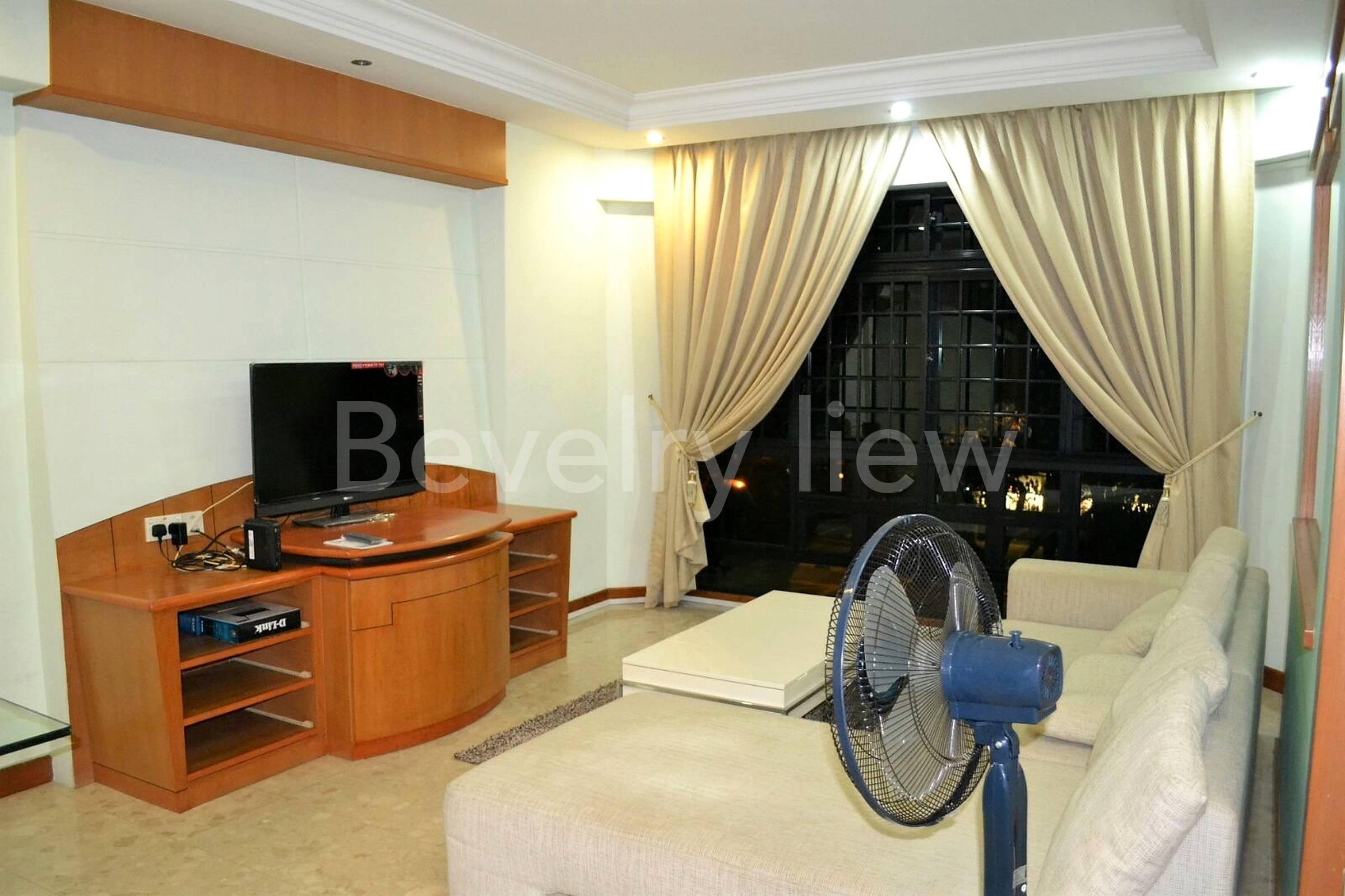 Living room, furnished