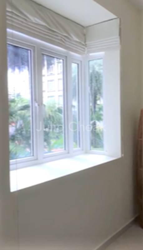 Master Bedroom Window Facing Pool view