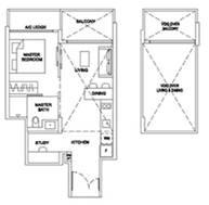 2 Bedrooms Type 1BRSR