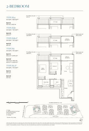 Type B2 - 2 Bedroom 743 Sqft