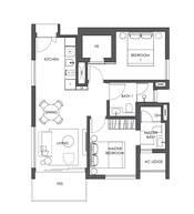 2 Bedrooms Type B2a