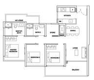 3 Bedrooms Type 3BRU