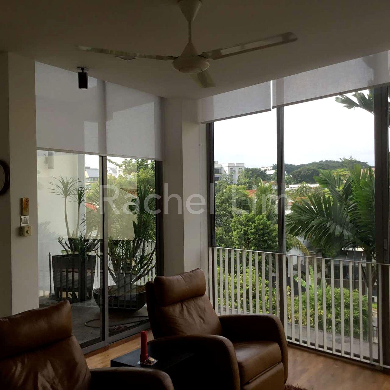 Balcony with greenery view