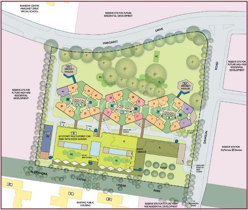 86 Skyville at Dawson - Site plan