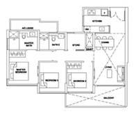 3 Bedrooms Type 3BRUR