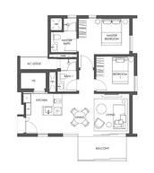2 Bedrooms Type B3f