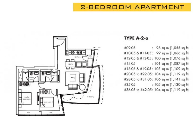 One Shenton #2x-05 Floor Plan