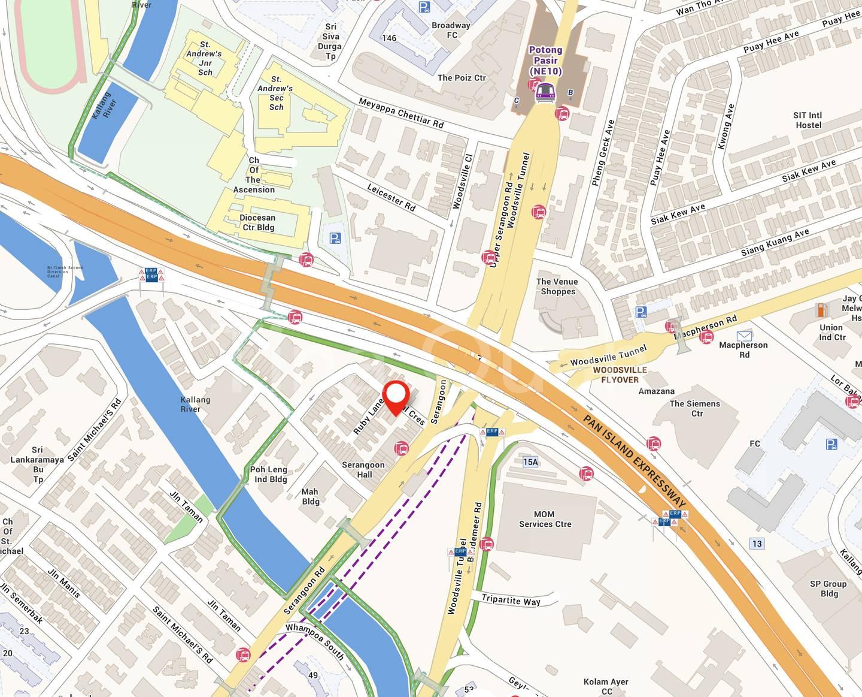 6 mins walk to Potong Pasir MRT. Or walk 1⃣ bus stop down to take bus to Potong Pasir MRT.