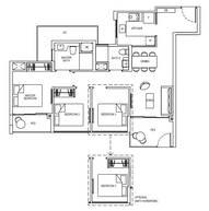 3 Bedrooms Type 3C1gG