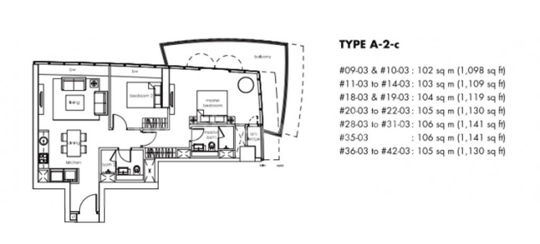 One Shenton #2x-03 Floor Plan