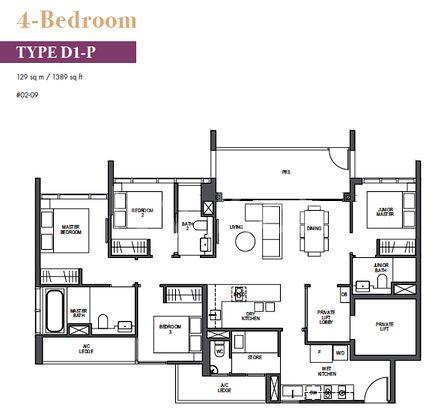 Pullman 4 br layout
