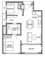 2 Bedrooms Type B8