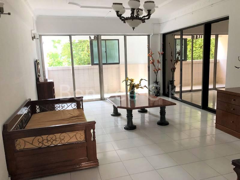 spacious living hall with balcony