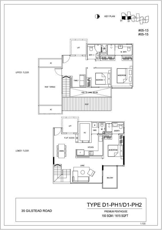 3 Brm Premium Penthouse 1,615 Sqft