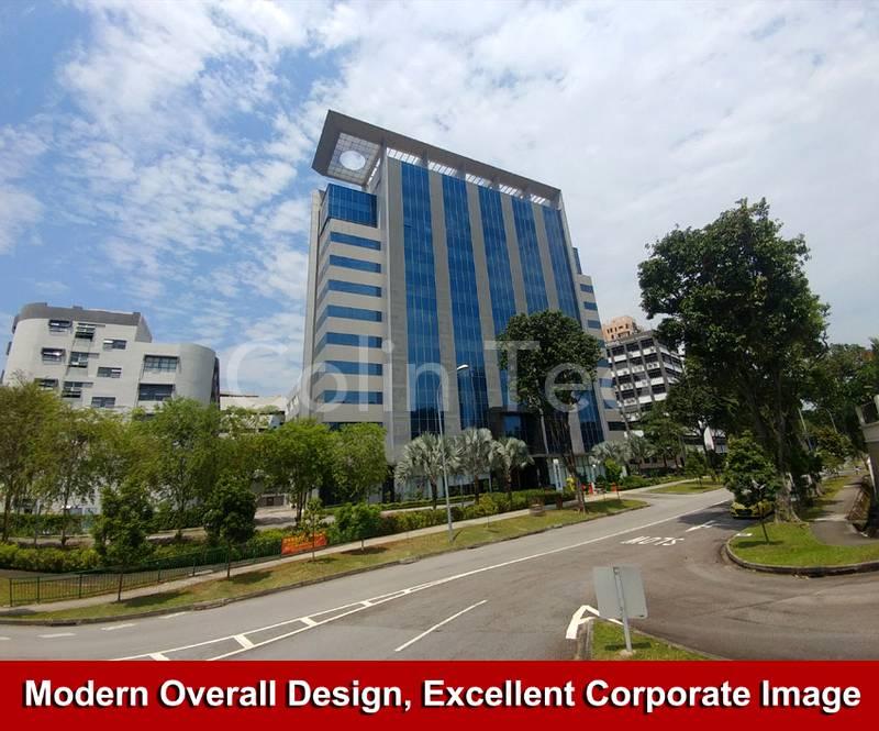Modern Glass Building Design.