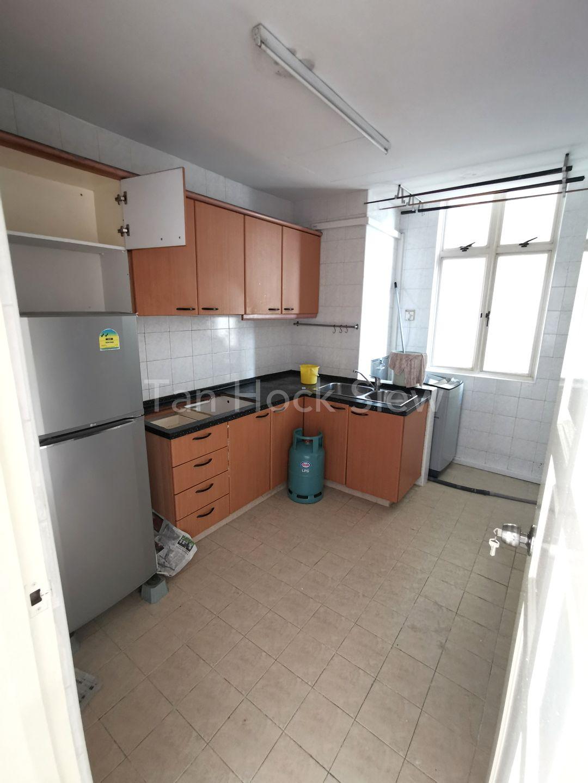 Fridge, Washing Machine and Kitchen Cabinets