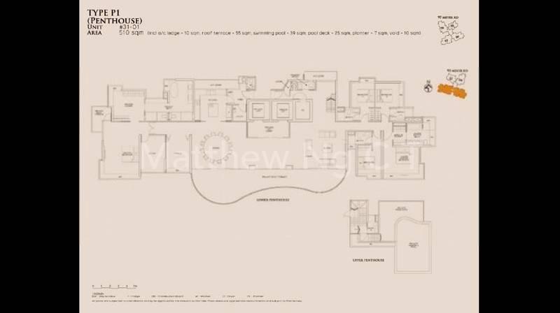 5 Bedroom Penthouse 5,490 Sqft