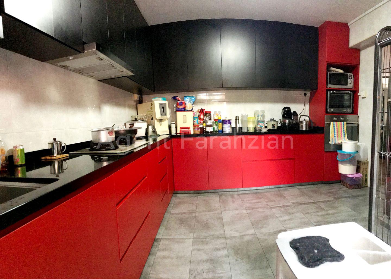 Full cabinet in kitchen