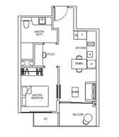 1 Bedroom Type 1S2