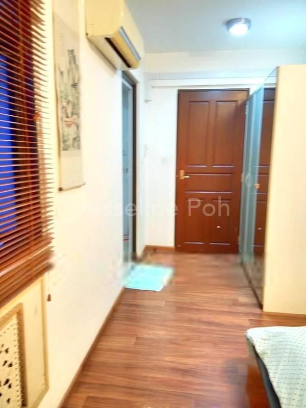 M.Rm Sliding door built in Wardrobe beside the door.