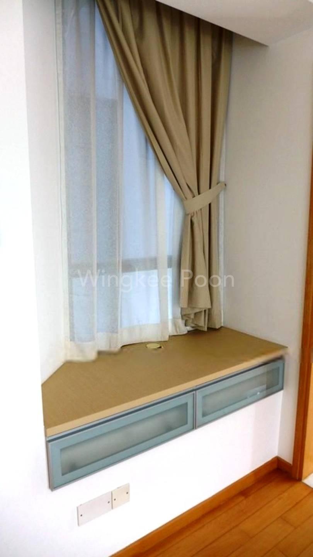 TV Console corner in Master Bedroom