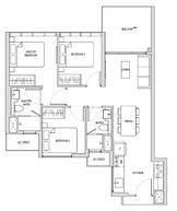 3 Bedrooms Type C1a